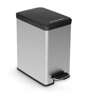 "Контейнер для мусора металлизированный ""SLIM BIN"" 20L, 02339"