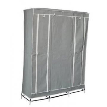 Шкаф-органайзер (3 секции), серый
