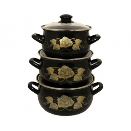 Набор посуды Interos Золотая роза 3040А