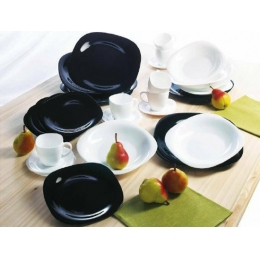 Сервиз столовый Luminarc Carine Black and White D-2380