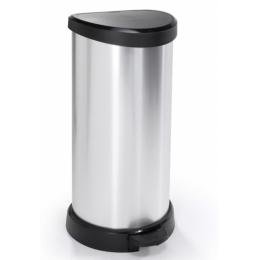 """Контейнер для мусора металлизированный """"DECO BIN"""" 40L, 02150"""