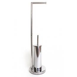 Стойка напольная с держателем для туалетной бумаги (0401-AB)
