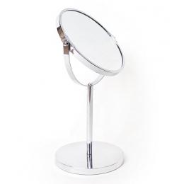 Зеркало косметическое настольное круглое, диаметр 17 см 1203-17