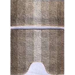 Набор ковриков для ванной и туалета бежевый