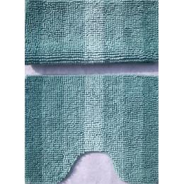 Набор ковриков для ванной и туалета бирюза