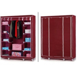 Шкаф-органайзер (3 секции), бордовый
