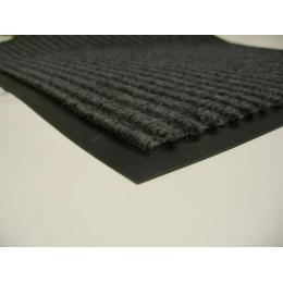 Влаговпитывающий коврик придверный с кантом 60 х 90 сірий