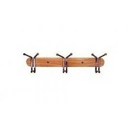 Вешалка настенная деревянная 3 крючка