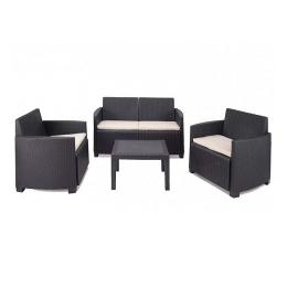 Комплект мебели из искусственного ротанга антрацит Arena