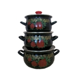 Набор посуды Interos Черный лямур 2275