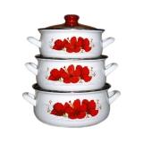 Набор посуды Interos Красный цветок 2247
