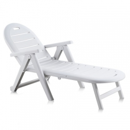 Лежак CAIMAN белый шезлонг складной