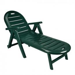 Лежак CAIMAN зеленый шезлонг складной