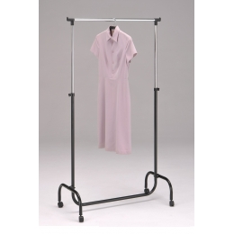 Стойка вешалка для одежды одинарная 4001-CR-BK