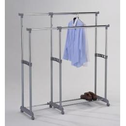 Стойка для одежды раздвижная двойная 4566