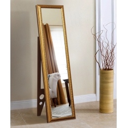 Напольное зеркало в золотой раме 1650 х 400 мм