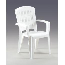 Стул кресло пластиковое Florence белый