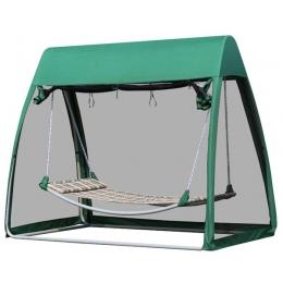 Гамак-качели с москитной сеткой зеленый
