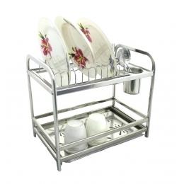 Сушилка нержавейка для посуды двух ярусная hp48-004