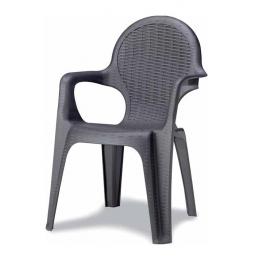 Кресло пластиковое Intrecciato антрацит