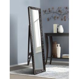 Напольное зеркало, черное 1650 х 400 мм