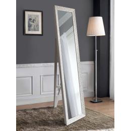 Напольное зеркало в белой раме 1650 х 400мм