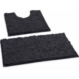 Набор ковриков для ванной и туалета Room mat microfiber т.синий