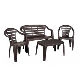 Комплект пластиковой мебели Maduro Set коричневый