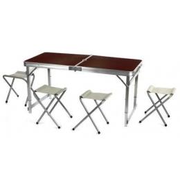 Набор Folding Table 120*60 cm 4 стульчика, усиленный