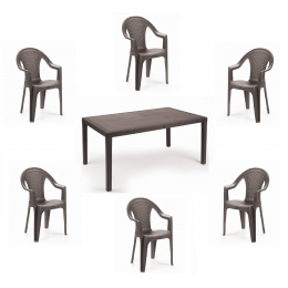 Комплект пластиковой мебели Prince Ischia 6