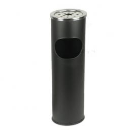 Пепельница урна черная d15 см