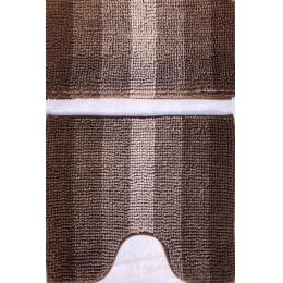 Набор ковриков для ванной и туалета коричневый