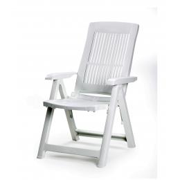 Кресло складное раскладное Tampa белое