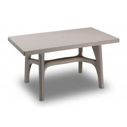 Стол пластиковый Intrecciato серо-бежевый
