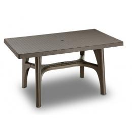 Стол пластиковый Intrecciato бронза